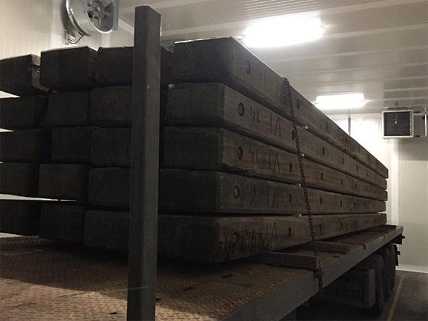 Hittebehandeling houten balken